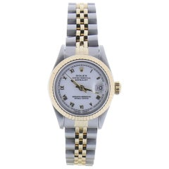 Certified 1990 Rolex Datejust 69173 26 Millimeters White Dial 18 Karat/SS Watch