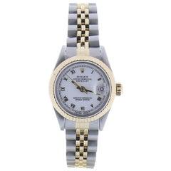 Certified 1990 Rolex Datejust 69173 White Dial 18 Karat/SS Watch