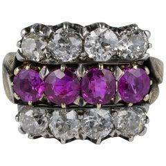 Certified 2.0 Carat Burma Ruby 2.60 Carat Diamond Rarest Ring