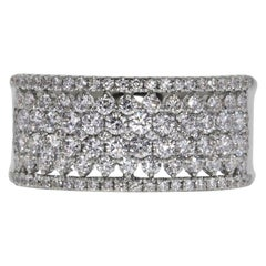Certified 2.00 Carat White VS Diamond Floating Pavé Ring Band in 14 Karat Gold
