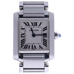 Certified 2000 Cartier Tank Francaise 2300 Off-White Dial