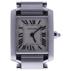 Certified, 2000 Cartier Tank Francaise 2384 Off-White Dial