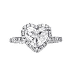 Certified 2.01 Carat G Color Heart Shape Engagement Ring