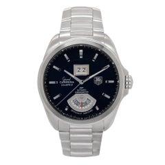 Certified 2012 TAG Heuer Grand Carrera WAV5111 Black Dial