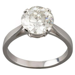 Certified 2.24 Carat Diamond Solitaire Engagement Ring
