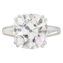 Certified 1.75 Carat Old Mined Cushion Cut Diamond Ring VS Clarity H Color