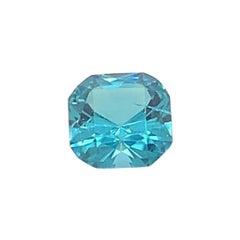 Certified 3.15 Carat Square Cushion Cut Natural Blue Tourmaline