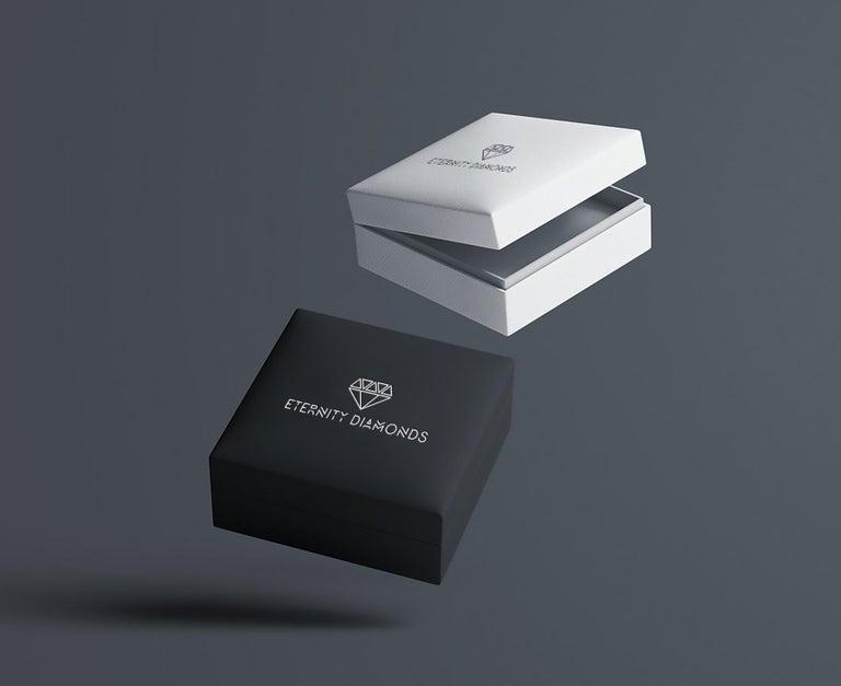 Round Cut Certified 3.30 Carat Round Diamond Paper Clip Design Link Bracelet in 14K Gold For Sale