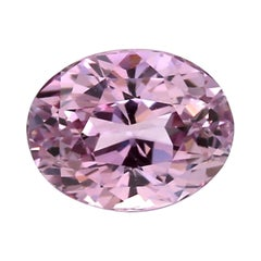 Certified 3.75 No Heat Lilac Oval Sapphire