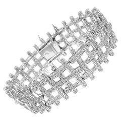 Certified 5 Carat Diamond White Gold Bracelet