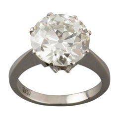 Certified 5.03 Carat Diamond Solitaire Engagement Ring