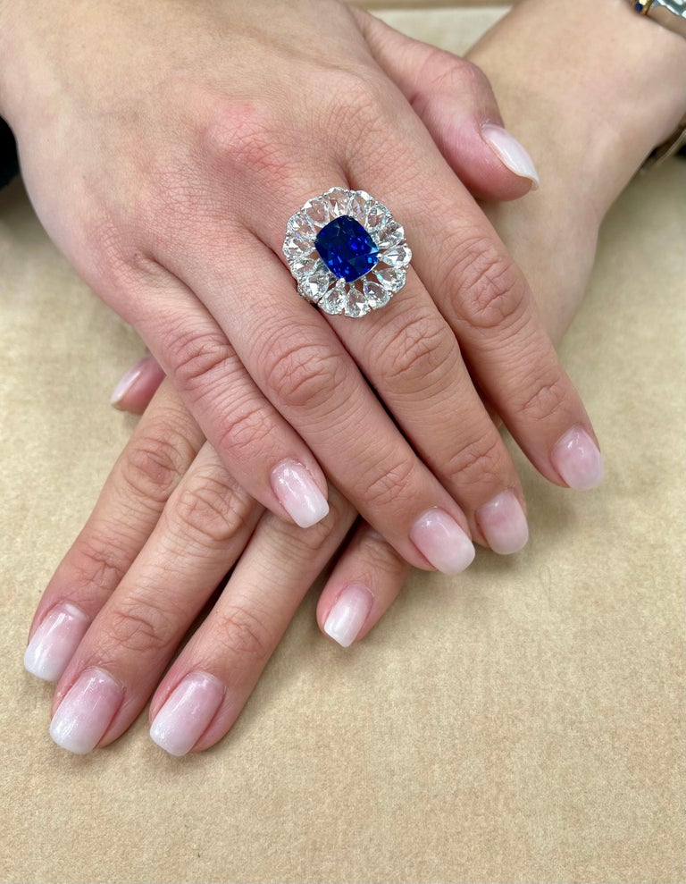 The HD video says it all! It does not get any better than this and also a great price point. The size, color and clarity are exceptional. The Sri Lanka or Ceylon royal blue sapphire is a vivid blue with excellent clarity. The sapphire is full of