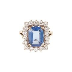 Sapphire Cluster Rings
