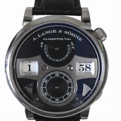 Certified A. Lange & Sohne Zeitwerk 140.029 with band and black diameter