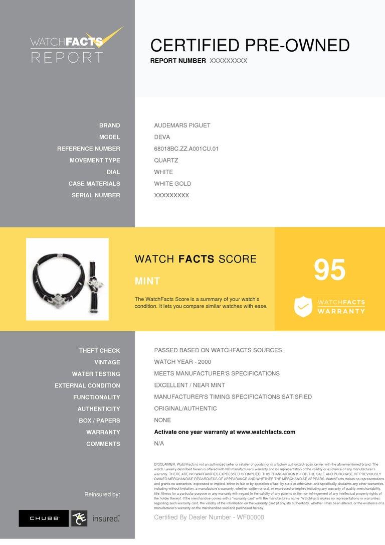 Certified Audemars Piguet Deva Watch and Necklace Set 68018BC.ZZ.A001CU.01 2