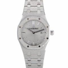 Certified Audemars Piguet Royal Oak Frosted Gold Watch 67653BC.GG.1263BC.01
