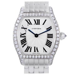 Certified Authentic and Warranty Cartier Tortue34914, Silver Dial