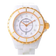 Certified Authentic and Warranty, Chanel J128718, 38 Millimeters White Dial