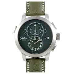 Certified Authentic and Warranty, Glashutte Original Panonavigator Green Dial