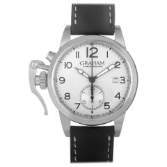 Certified Authentic and Warranty, Graham Chronofighter 5371, Silver Dial