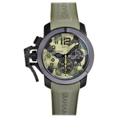 Certified Authentic and Warranty, Graham Chronofighter 6559, Green Dial
