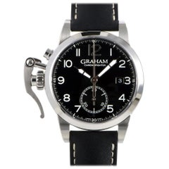 Certified Authentic and Warranty, Graham Chronofighter4626, Black Dial