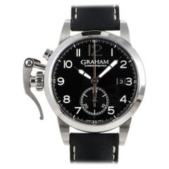 Certified Authentic and Warranty Graham Chronofighter4626 Millimeters Black Dial