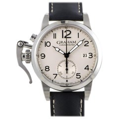 Certified Authentic and Warranty, Graham Chronofighter4626, Silver Dial