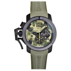 Certified Authentic and Warranty, Graham Chronofighter6559, Green Dial