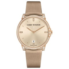 Certified Authentic and Warranty, Harry Winston Midnight 24037, White Dial