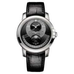 Certified Authentic and Warranty, Harry Winston Midnight 43679, Black Dial