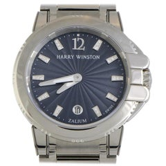 Certified Authentic and Warranty, Harry Winston Ocean 10435, Grey Dial