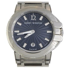 Certified Authentic and Warranty, Harry Winston Ocean10435, Grey Dial