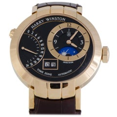 Certified Authentic and Warranty, Harry Winston Premier26504, Black Dial