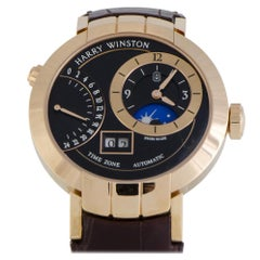Certified Authentic and Warranty, Harry Winston Premier26504 Black Dial