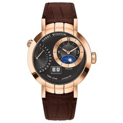 Certified Authentic and Warranty, Harry Winston Premier49680, Black Dial