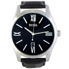 Certified Authentic and Warranty, Hugo Boss Ambassador222 Millimeters Black Dial