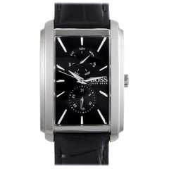 Certified Authentic and Warranty, Hugo Boss Ambition359, Millimeters Black Dial