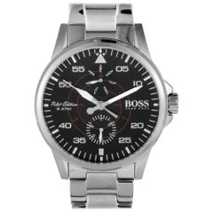 Certified Authentic and Warranty, Hugo Boss Aviator395, Millimeters Black Dial