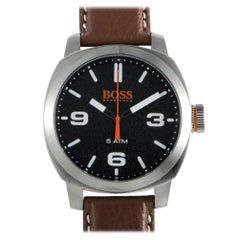 Certified Authentic and Warranty, Hugo Boss Cape Town167, Millimeters Black Dial