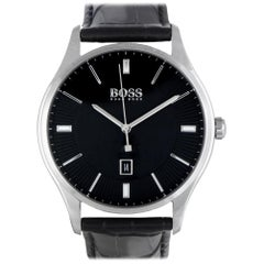 Certified Authentic and Warranty, Hugo Boss Governor299, Millimeters Black Dial
