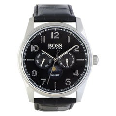 Certified Authentic and Warranty, Hugo Boss Heritage299, Millimeters Black Dial