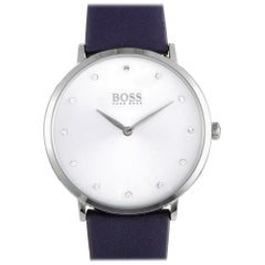 Certified Authentic and Warranty, Hugo Boss Jillian239, Millimeters White Dial