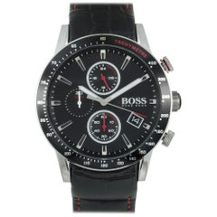 Certified Authentic and Warranty, Hugo Boss Rafale419, Millimeters Black Dial