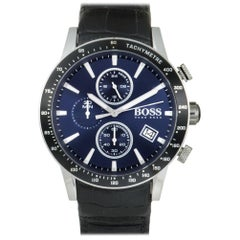 Certified Authentic and Warranty, Hugo Boss Rafale419, Millimeters Blue Dial