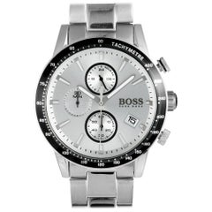 Certified Authentic and Warranty, Hugo Boss Rafale455, Millimeters Silver Dial