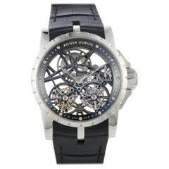 Certified Authentic and Warranty, Roger Dubuis Excalibur405600, White Dial