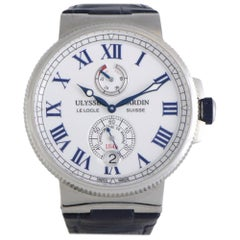 Certified Authentic and Warranty, Ulysse Nardin Marine4998, White Dial