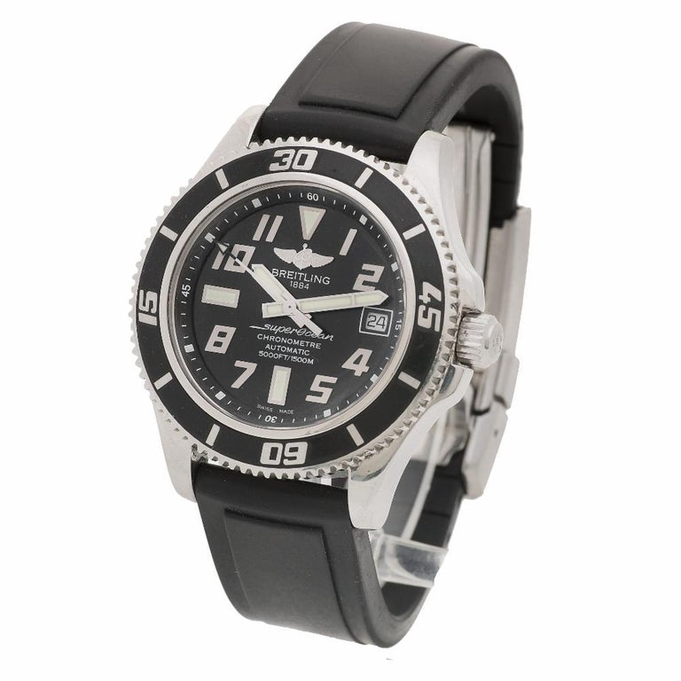 Certified Authentic Breitling Superocean 2964, Silver Dial