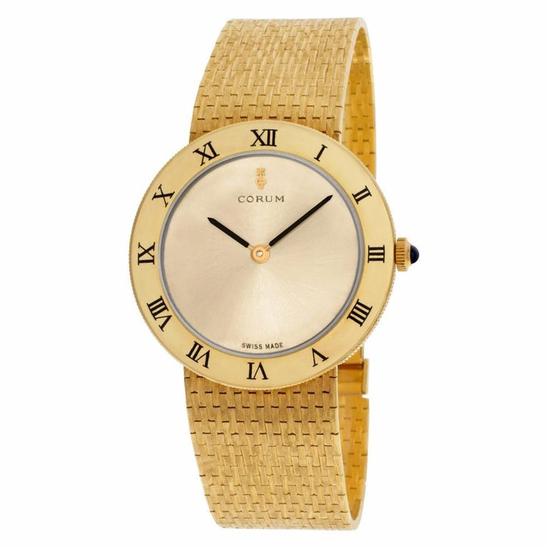 Contemporary Certified Authentic Corum Classic 7740, Gold Dial